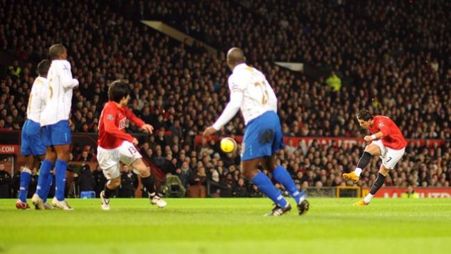 Cristiano Ronaldo's free-kick against Portsmouth was his most iconic Premier League goal