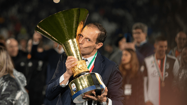 Massimiliano Allegri won five Serie A titles in his first spell as Juventus coach