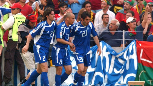 Greece's opening game victory over Portugal set the tone for a memorable summer in 2004