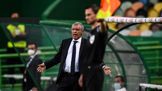 Fernando Santos watches on as his side beat Israel