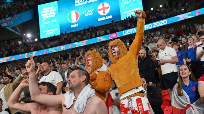 LiveScore's Matthew Storey was part of the crowd as England reached a major tournament semi-final for the first time since 1966