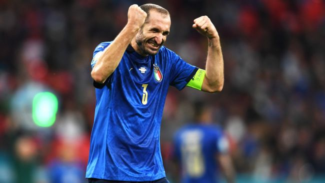 Veteran defender Giorgio Chiellini will be hoping to add to his medal haul when Italy take on England in Sunday's Euro 2020 final