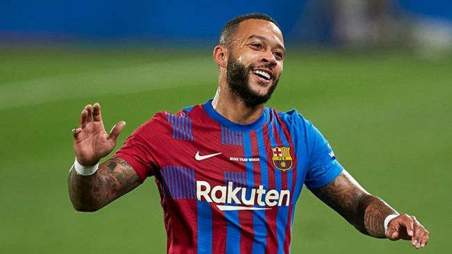 Memphis Depay was on target once again for Barcelona against Juventus
