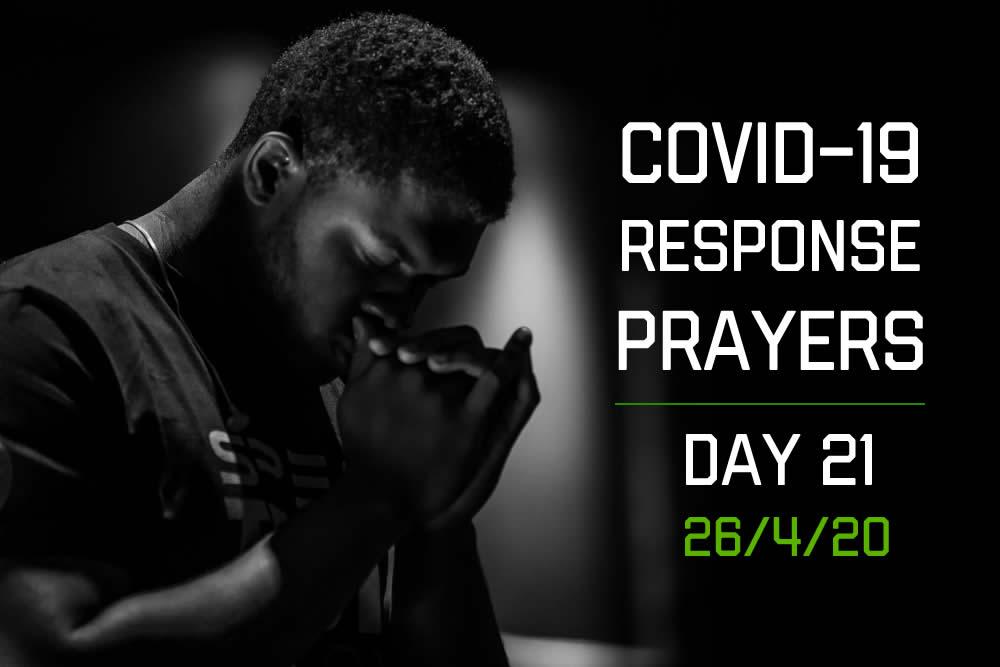 COVID-19 Response Prayers – Day 21