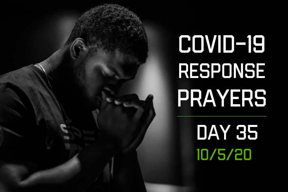 COVID-19 Response Prayers – Day 35