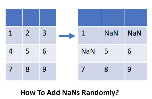 How To Randomly Add NaN to Pandas Dataframe? | Python, R