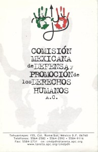 Folleto CMDPDH AC - portada - Biblioteca