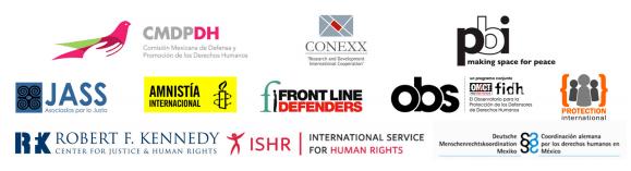 Misión de Observación Civil Internacional vendrá a México para visibilizar el trabajo de las y los defensores de DDHH