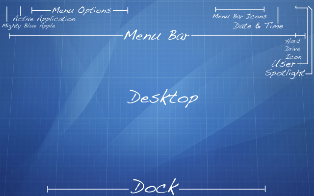 Mac OS Blueprint Wallpaper (unknown origin)