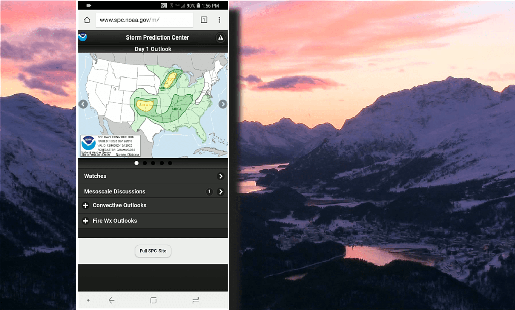 Mobile-Optimized NOAA Weather Resources