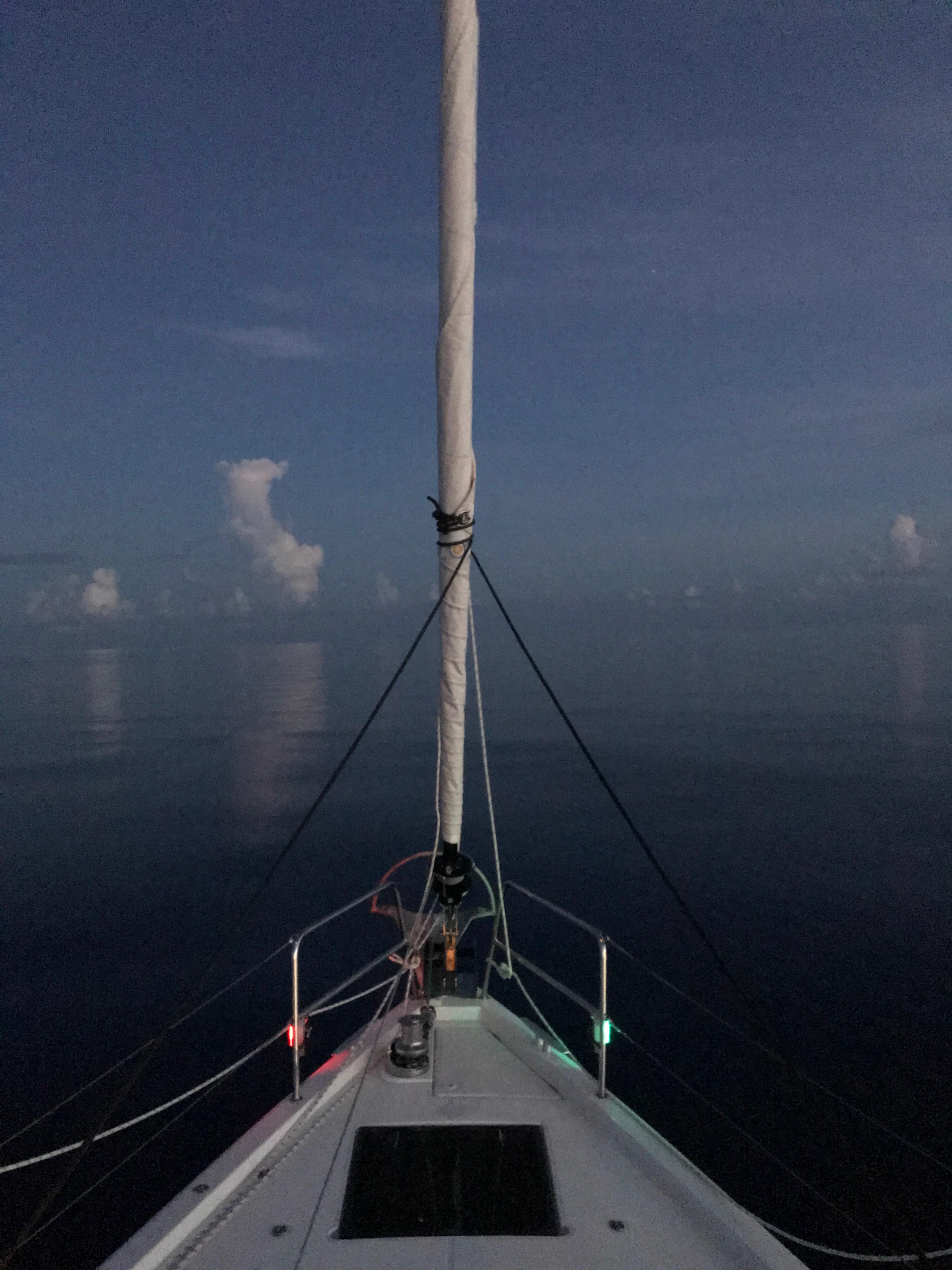S/v Koa crossing the Gulf of Mexico.