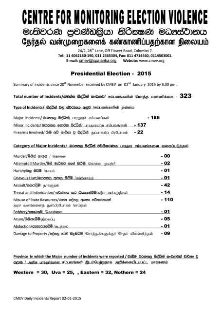 Presidential Election 2015- summary 02.01.2015 - Page 1