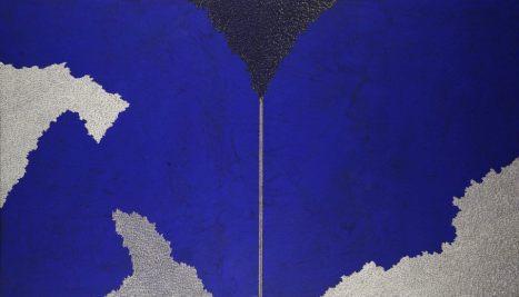 Tensione temporale: acrilico injection painting su tela 2006 - 70x120cm