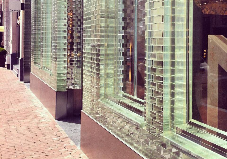 Glass bricks in Amsterdam