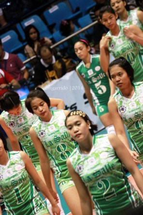 the undefeated DLSU Lady Spikers