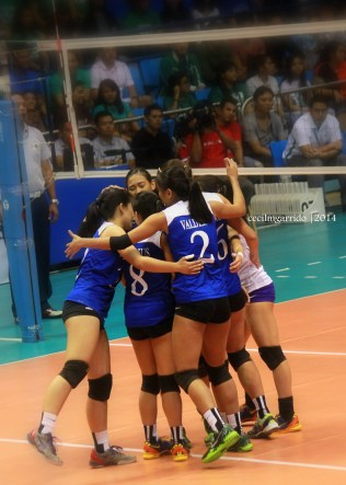 the Ateneo Lady Eagles ready to challenge the squad from Taft