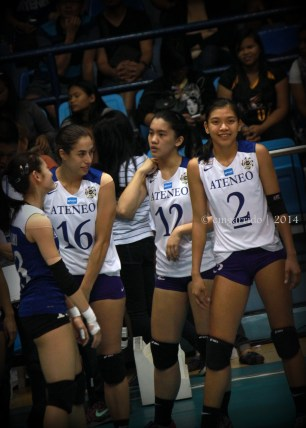 Lazaro, Ahomiro, Morado and Valdez during the time out