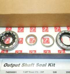 gm 7 25 ifs front differential output seal kit trailblazer oil pan mounted aam [ 1280 x 960 Pixel ]