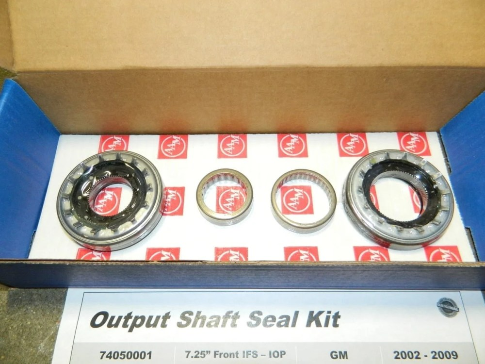 medium resolution of gm 7 25 ifs front differential output seal kit trailblazer oil pan mounted aam