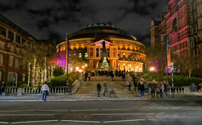Royal Albert Hall in the winter