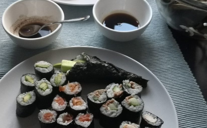 May Review - Lockdown sushi making with the kids