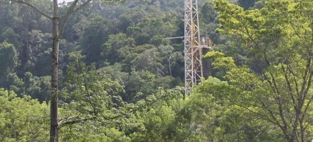 El área de perforación petrolera se encuentra en el Área protegida del río Sarstún