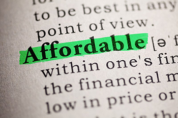 Fake Dictionary, definition of the word affordable.