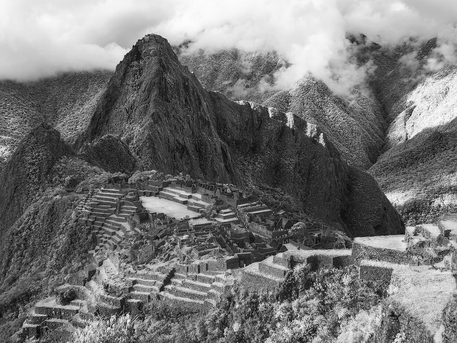Machu Picchu In Infrared Photography A Ghost Eye View