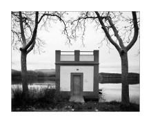 Fishing shelter at Banyoles Lake shore