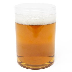 Large Beer Mason Jar With Plastic Lid