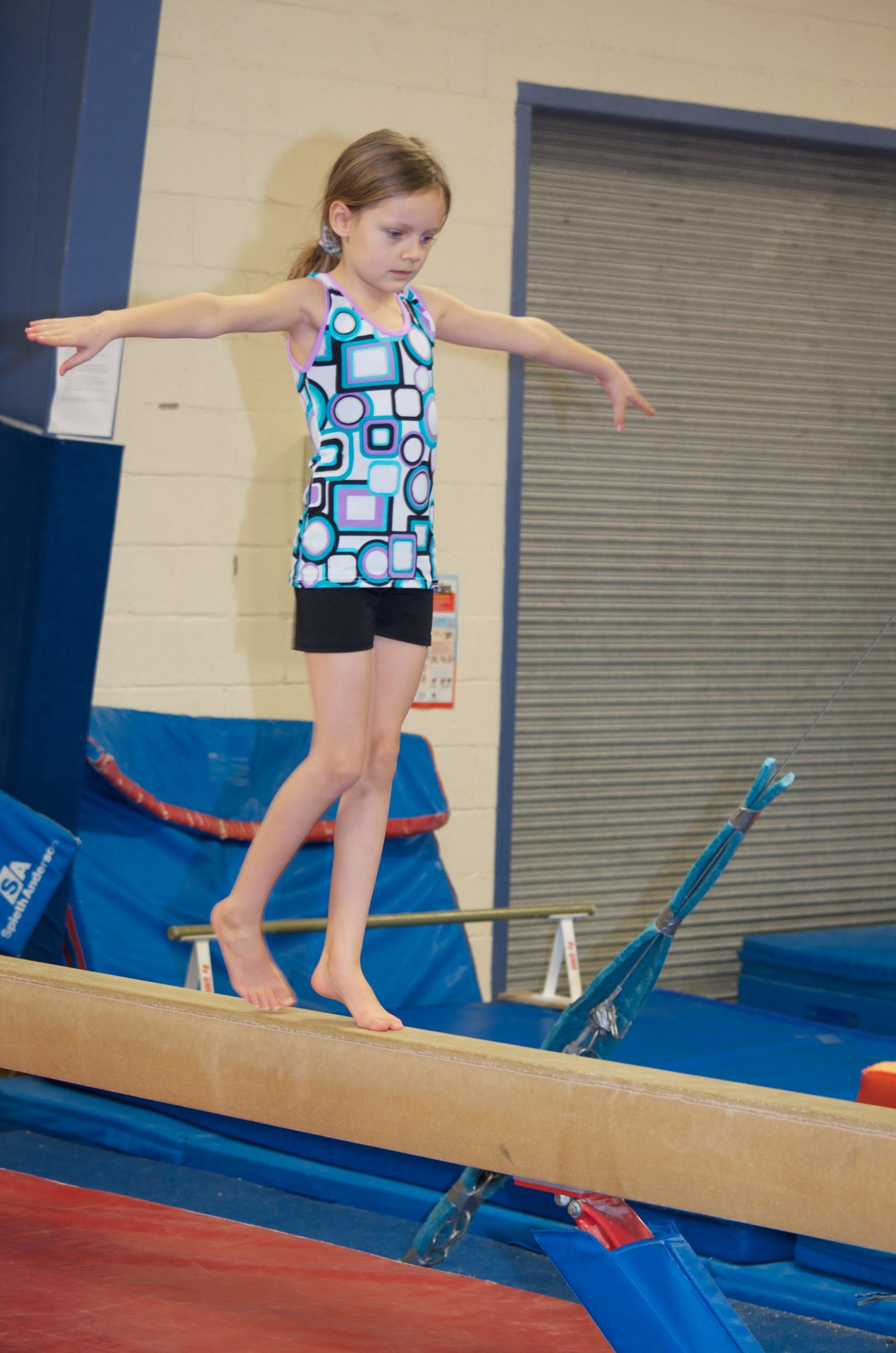 Mallory on the balance beam