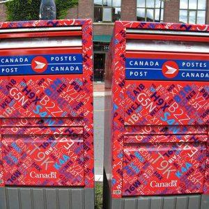 Canada Post letter box