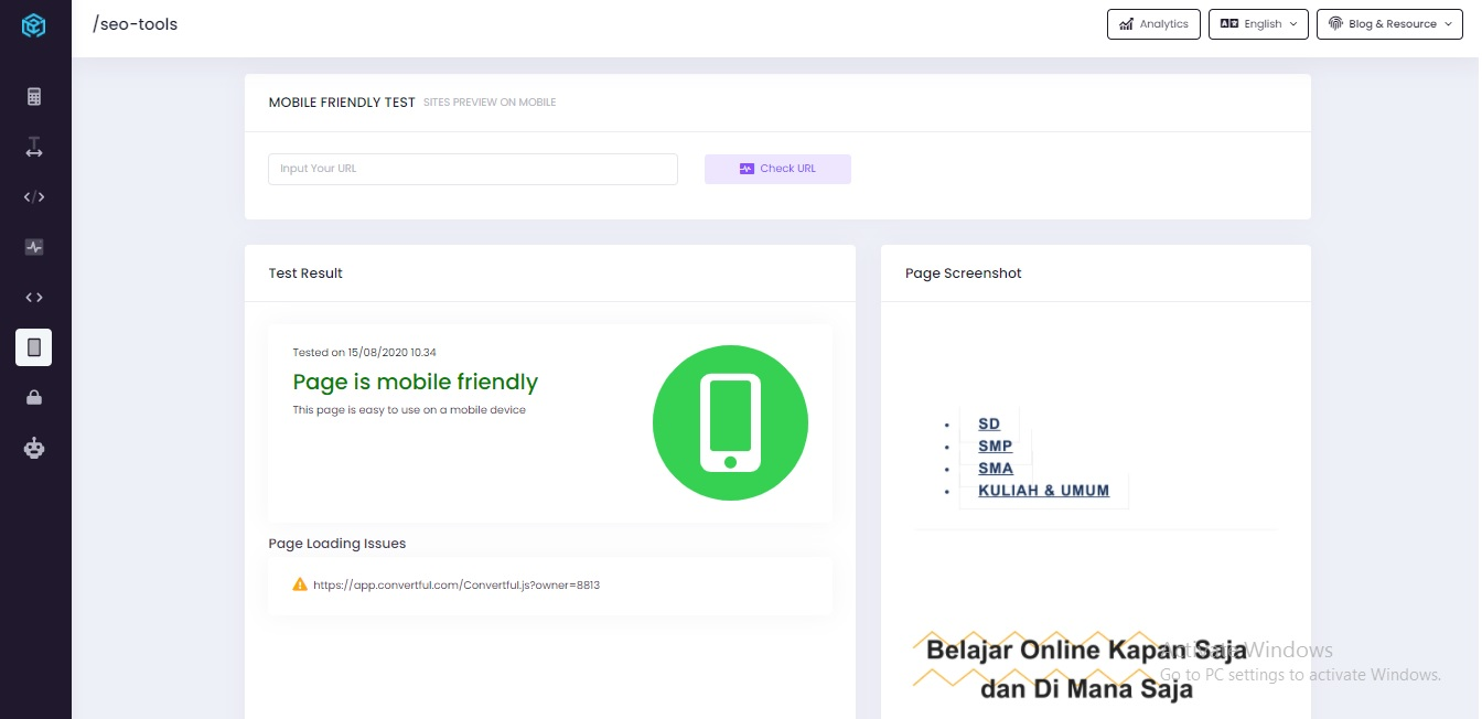 mobile friendly test tool cmlabs