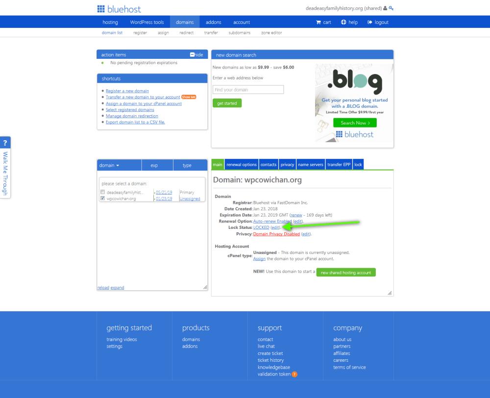 bluehost 3 unlock domain.png