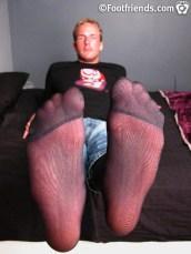 male feetin nylon