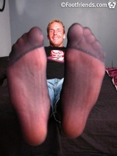 twink feet in nylon
