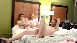 naked gays threesome