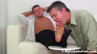 gay feet licking