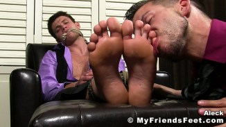 male feet licking