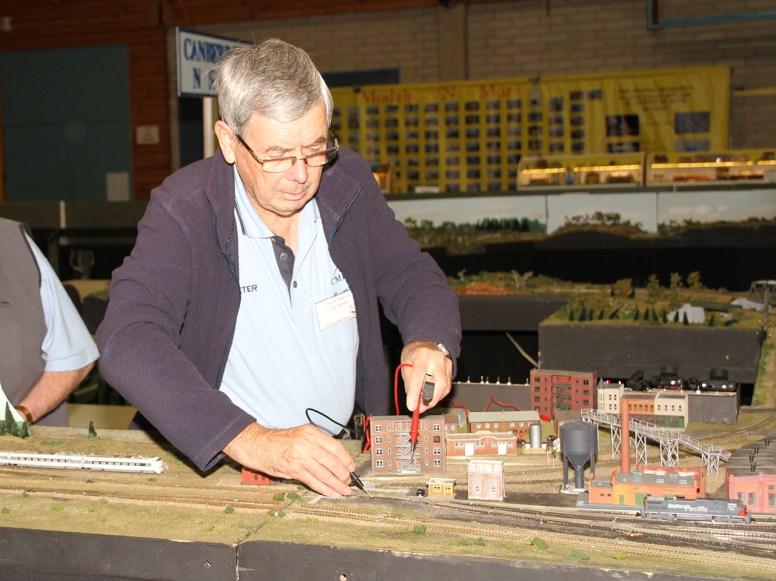 Peter making repairs