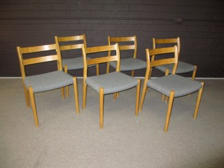 Six Moller chairs