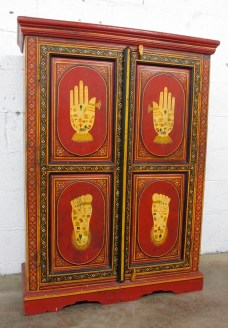 """KISHANGARH, INDIA, painted """"personal"""" cabinet, in excellent antique condition. $495"""