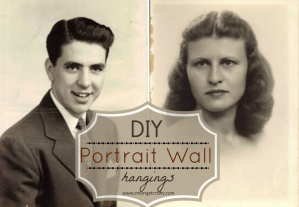 DIY Portrait Wall Hangings