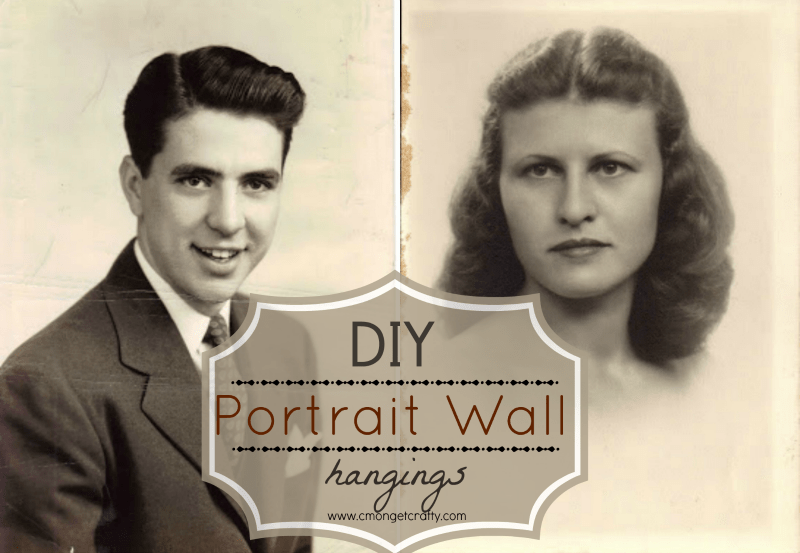 DIY Portrait Wall Hanging