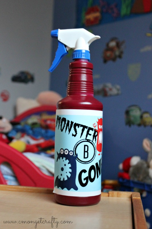 Chase away those bed time bullies with your own Monster Spray - get the free printable!