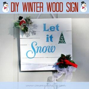 DIY WINTER WOOD SIGN