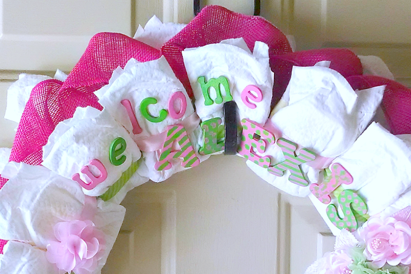 How to Make a Diaper Wreath Tutorial