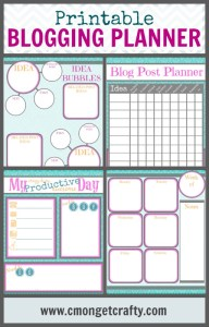 Printable Blogging Planner