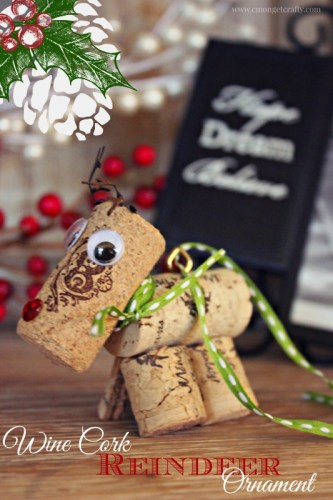 As if there is ever a bad reason to drink wine? This adorable cork reindeer will be the hit of your Christmas tree!