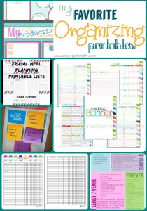 Get Organized in 2015 with Tons of Free Organizing Printables!